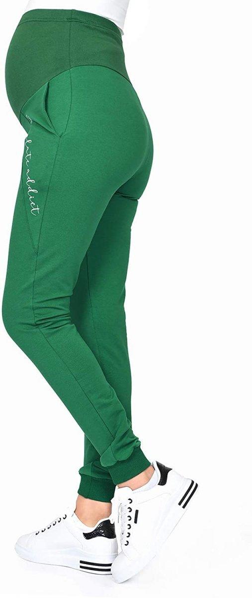 Wygodne ciążowe spodnie dresowe Chocolate Addict 9097 zielony4