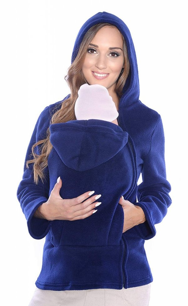 Ciepła bluza polarowa do noszenia dziecka 3072A ciemny granat
