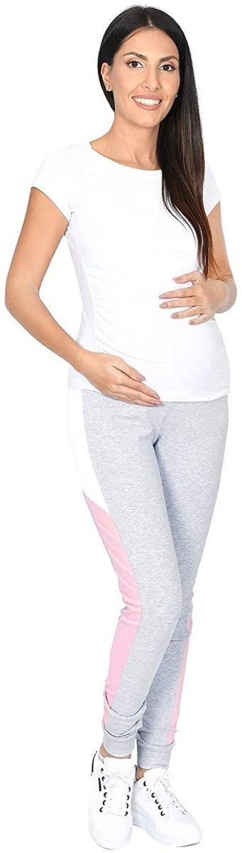 Wygodne spodnie ciązowe dresowe  Elle 9095 melanż1