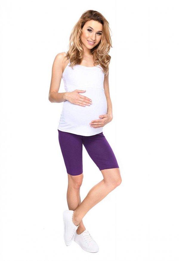 Wygodne legginsy ciążowe Mama fioletowy 2