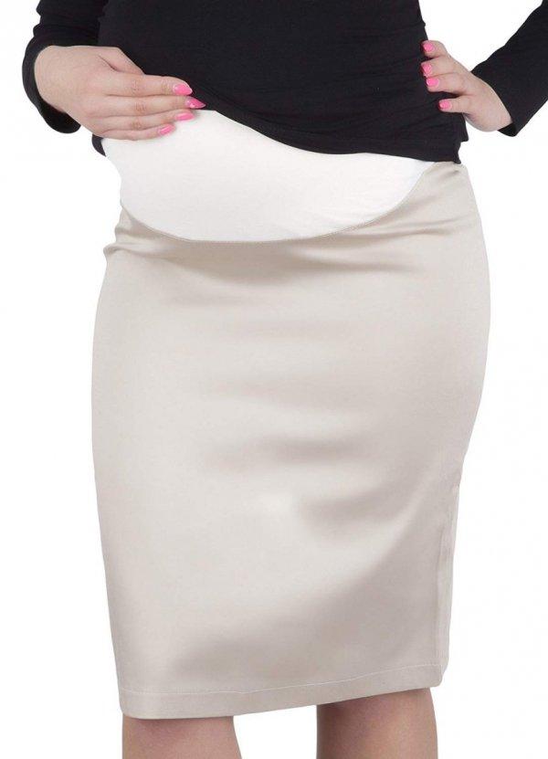 """Elegancka spódnica ciążowa """"Melanie"""" 9014 beż 1"""