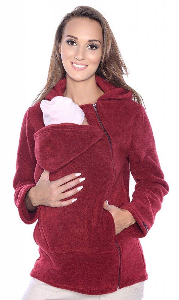 Ciepła bluza polarowa do noszenia dziecka 3072A bordo 2