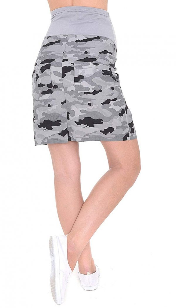 MijaCulture - spódnica ciążowa moro 9060/M59 moro 3