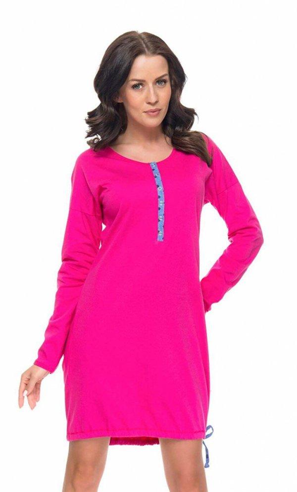 Wygodna koszula 2 w 1 ciążowa i do karmienia długi rękaw 5070/9104,1055 różowy