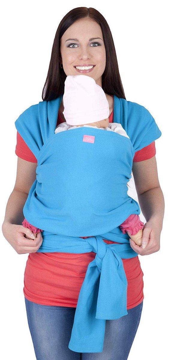 chusta do noszenia dzieci 4011/M28 turkus 2