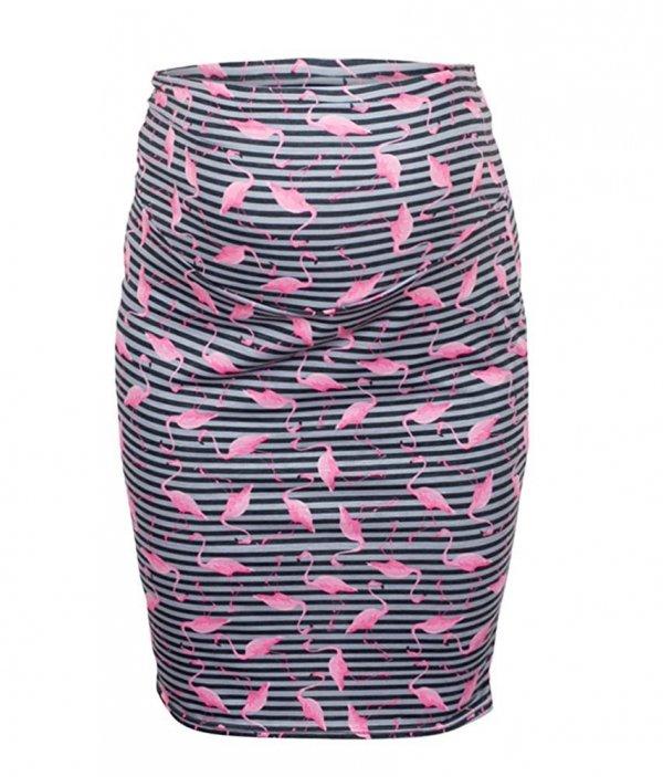 """Zjawiskowa spódnica dla kobiet w ciąży """"Gery"""" 7148 flamingo 1"""