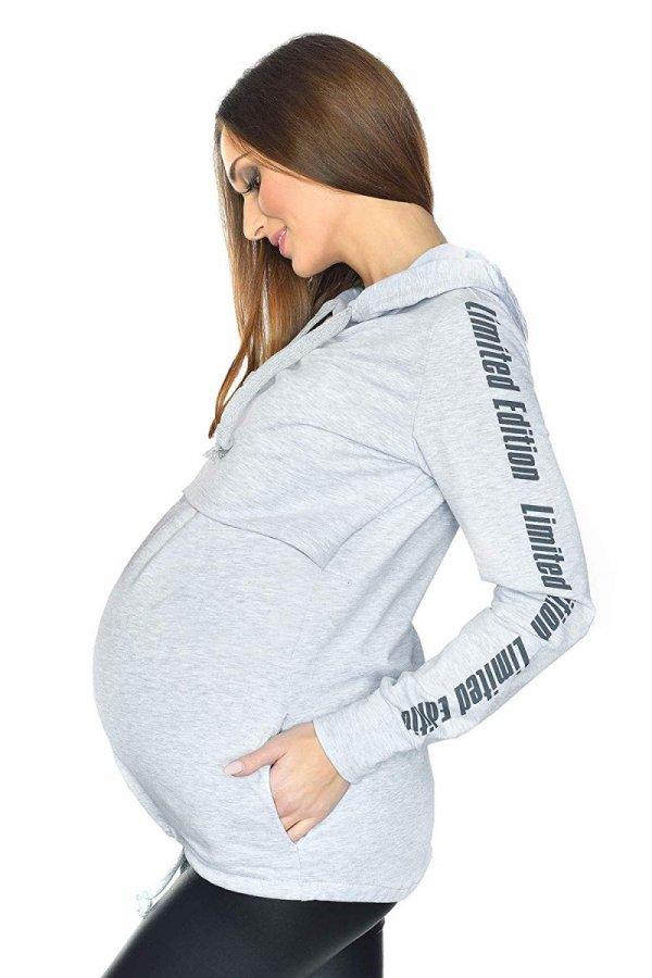 MijaCulture - 3 w 1 bluza ciążowa i do karmienia M68 4110 melanż 1