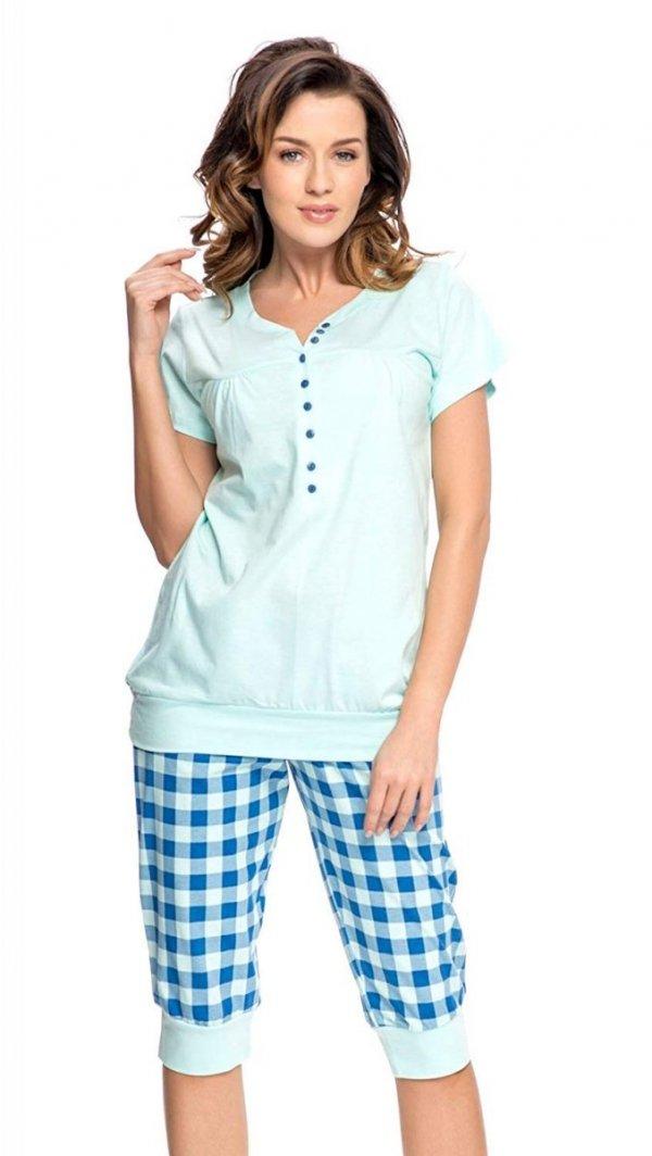 Wygodna piżama 2 w 1 ciążowa i do karmienia 5063 mięta