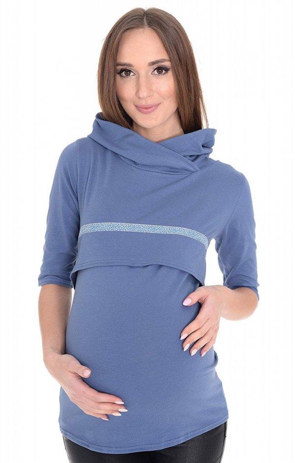 """3 w 1 bluza ciążowa i do karmienia """"Monica"""" 7134 niebieski 2"""