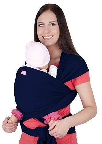 MijaCulture - chusta do noszenia dzieci 4011/M28 granatowa 2