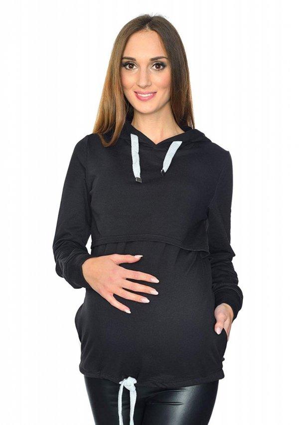 MijaCulture - 3 w 1 bluza ciążowa i do karmienia M68 4110 czarny 2