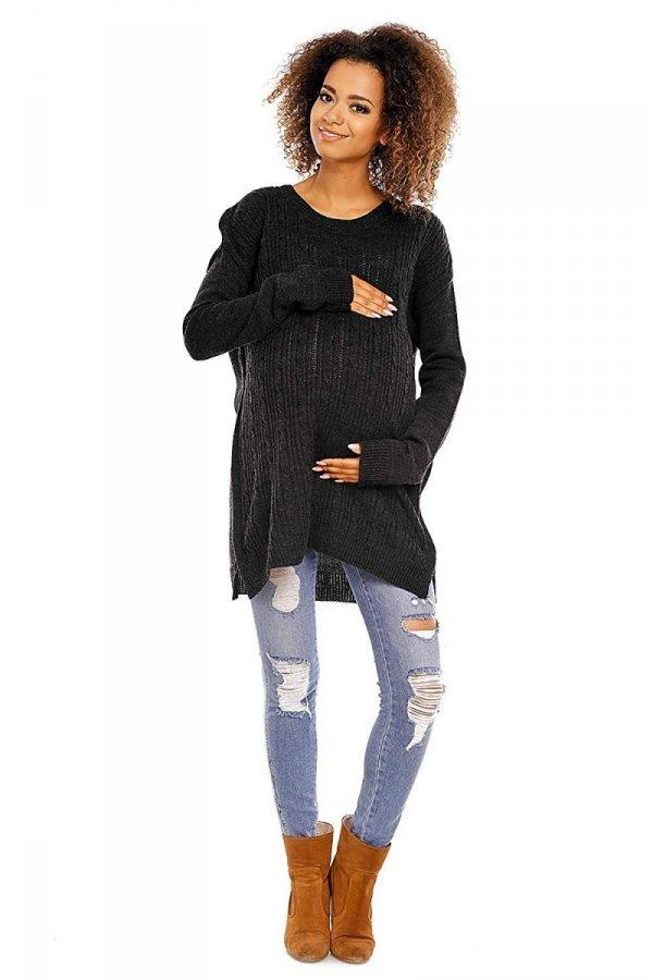 Funkcjonalny sweter 3 w 1 ciążowy i do karmienia 2013 grafit 2