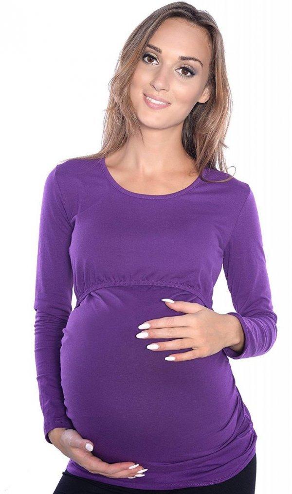 MijaCulture - bluzka 2 w 1 ciążowa i do karmienia długi rękaw M04/3075 fiolet 1