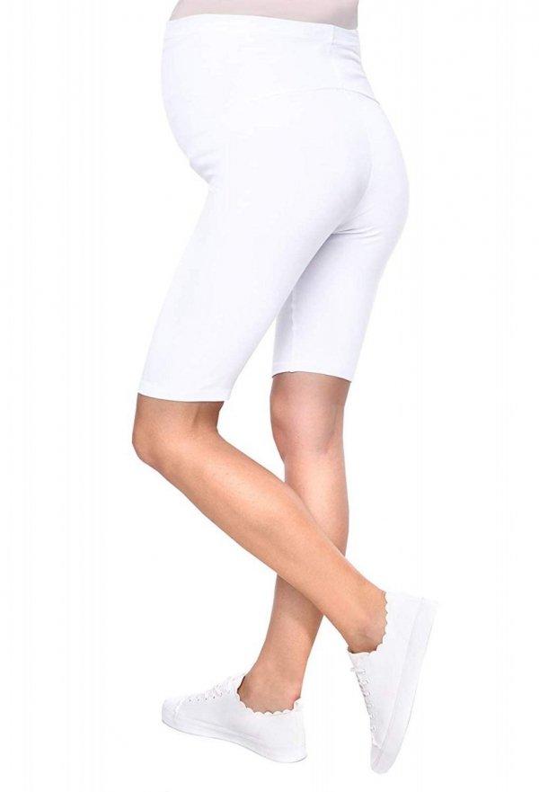 Wygodne legginsy ciążowe Mama biały 4