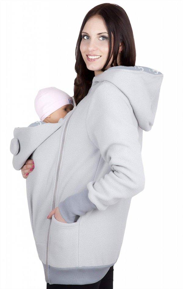 bluza polarowa do noszenia dziecka 4019A/M21 jasny szary/szary 3