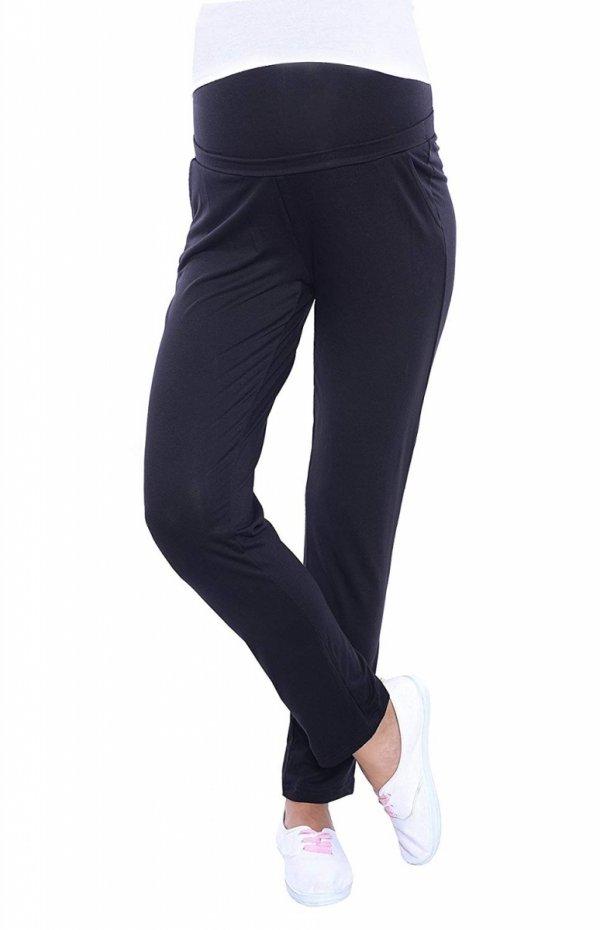 MijaCulture - spodnie viskozowe 4092/ M53 czarny 4