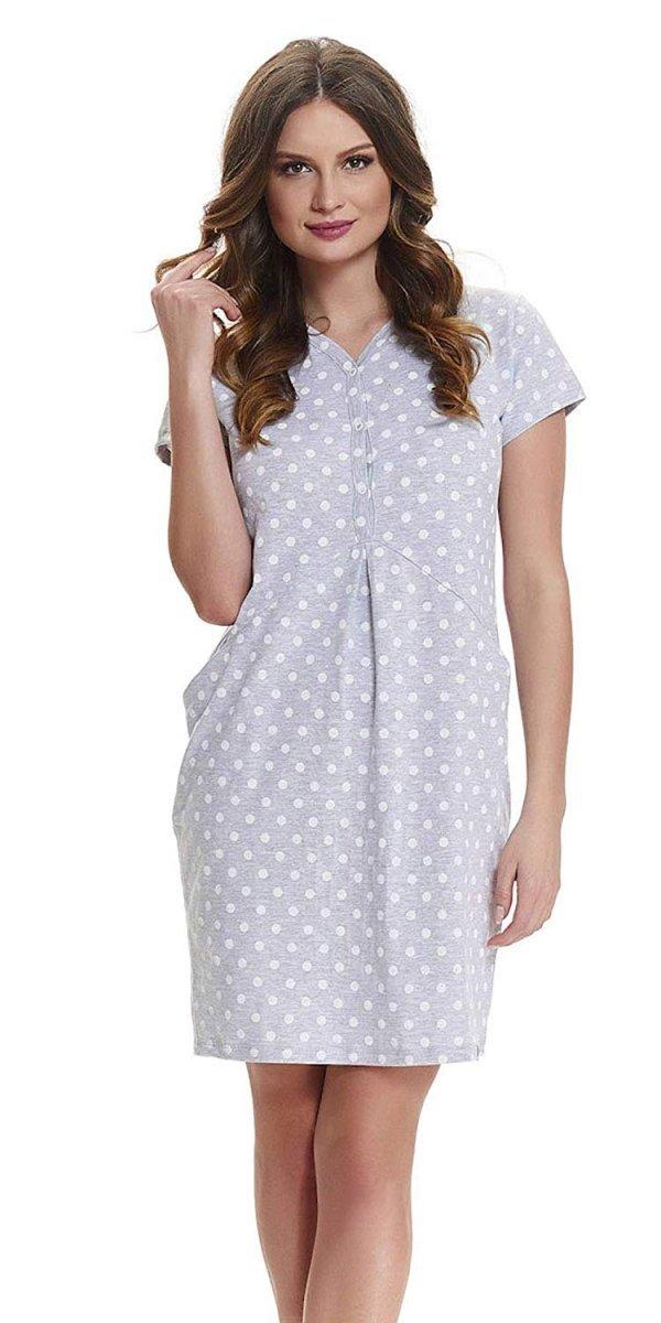 Elegancka koszula 2 w 1 ciążowa i do karmienia 5073/9453 melanż 3
