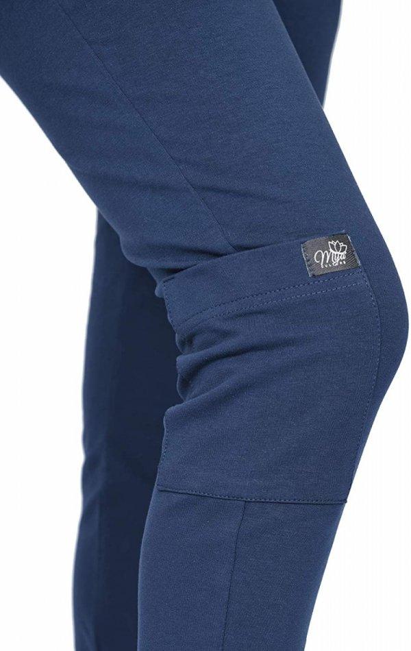MijaCulture Wygodne spodnie dresowe ciążowe ZOE M002 granat4