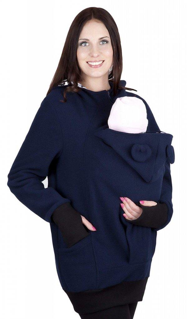 bluza polarowa do noszenia dziecka 4019A/M21 ciemny granat 4