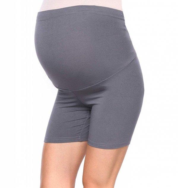 Wygodne krótkie legginsy ciążowe Mama Mia szary 3