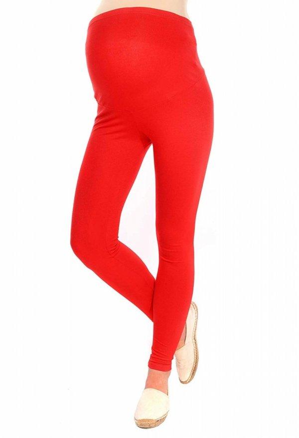 Komfortowe legginsy ciążowe 3085 czerwony