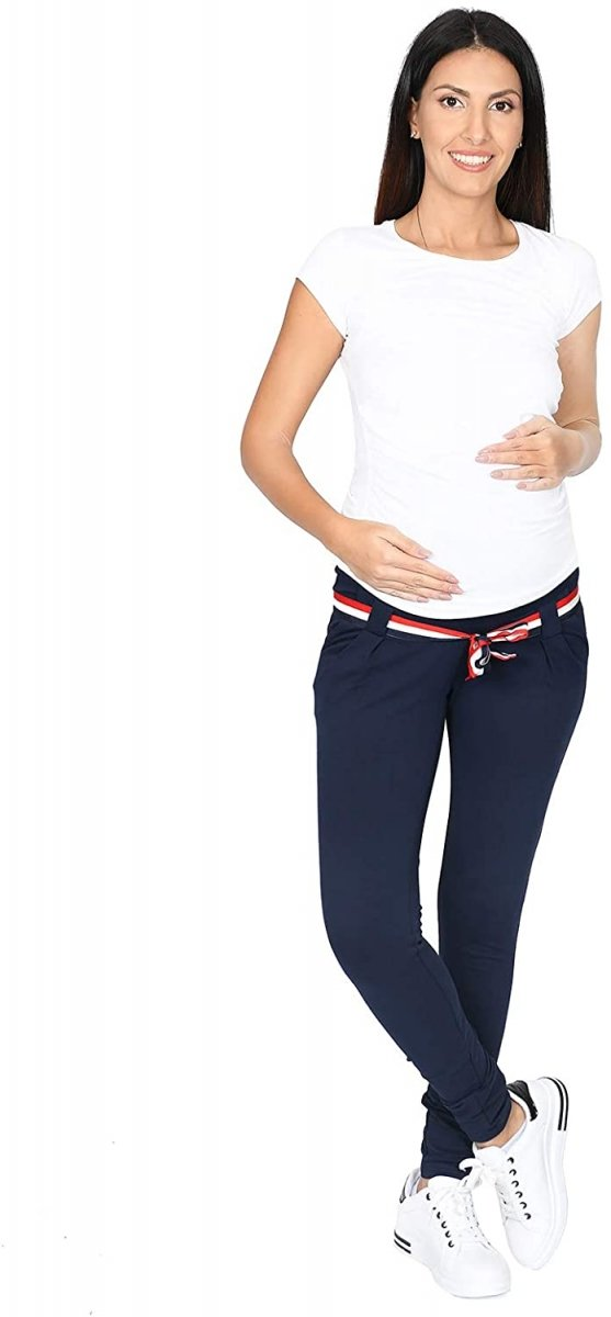 Komfortowe spodnie ciążowe Monika 9081 granat5