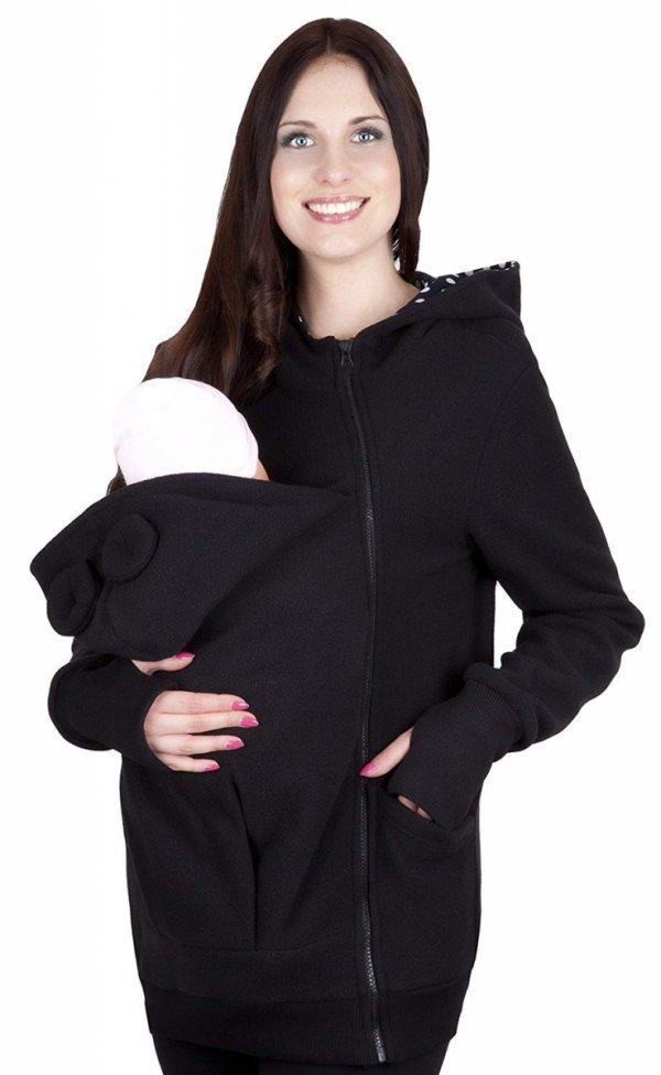bluza polarowa do noszenia dziecka 4019A/M21 czarny 1