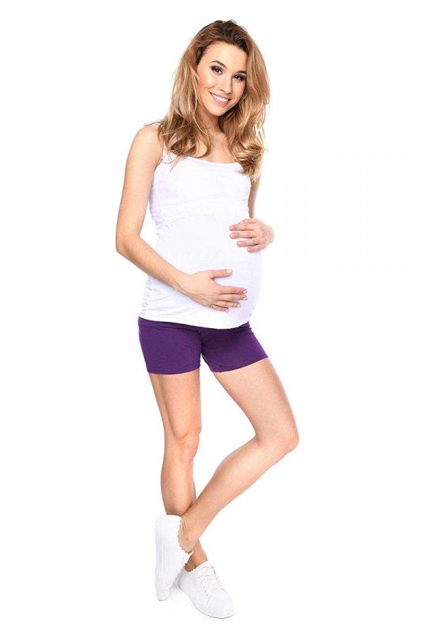 Wygodne krótkie legginsy ciążowe Mama Mia fioletowy 2