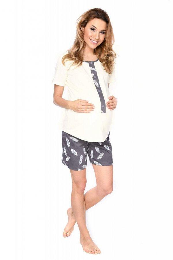 MijaCulture - 3 w 1 piżama ciążowa i do karmienia 4030/M47 kremowy 3
