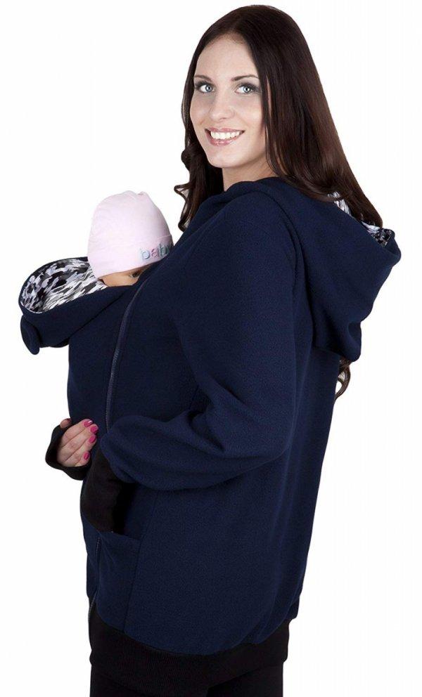 bluza polarowa do noszenia dziecka 4019A/M21 ciemny granat 2