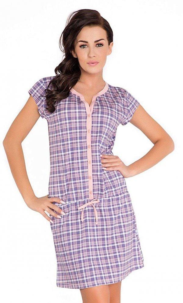 Elegancka koszula 2 w 1 do karmienia i na co dzień 5061/7041 fiolet
