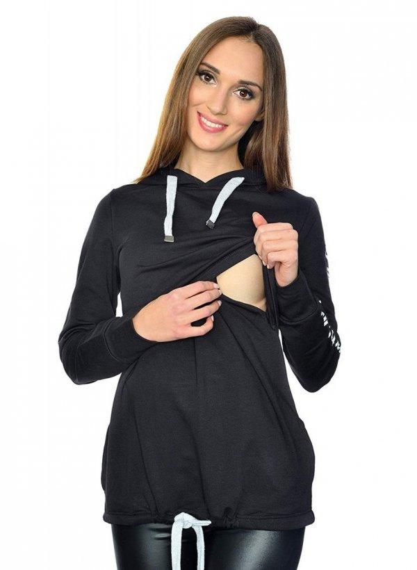 MijaCulture - 3 w 1 bluza ciążowa i do karmienia M68 4110 czarny Limited Edition 2