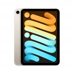 Apple iPad mini 6 8,3 64GB Wi-Fi + Cellular (5G) Księżycowa poświata (Starlight)