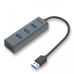 i-tec USB 3.0 Metal 4-port HUB pasywny, 4x USB 3.0