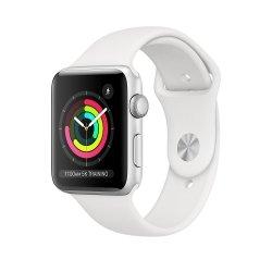 Apple Watch Series 3 38mm GPS Aluminium w kolorze srebrnym z paskiem sportowym w kolorze białym
