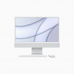 Apple iMac 24 4,5K Retina M1 8-core CPU + 8-core GPU / 8GB / 256GB SSD / Srebrny (Silver) - 2021