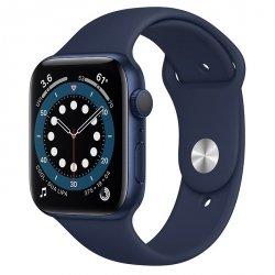 Apple Watch Series 6 44mm GPS Aluminium w kolorze niebieskim z paskiem sportowym w kolorze głębokiego granatu