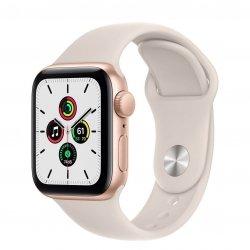 Apple Watch SE 40mm GPS Aluminium w kolorze złotym z paskiem sportowym w kolorze księżycowej poświaty