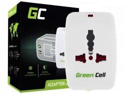 Adapter Podróżny, Przejściówka do Gniazdka Elektrycznego Green Cell ® Uniwersalny