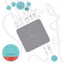 i-tec USB-C Metal 4K Docking Station + Power Adapter 100W