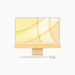 Apple iMac 24 4,5K Retina M1 8-core CPU + 8-core GPU / 16GB / 512GB SSD / Gigabit Ethernet / Żółty (Yellow) - 2021