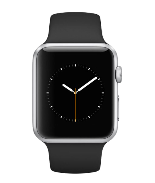 Apple Watch 38mm Stainless Stell Classic Buckle Black Leather A1553