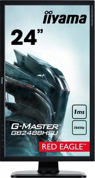"MONITOR IIYAMA 24"" G-Master GB2488HSU-B2 1ms 144Hz eSport Red Eagle"