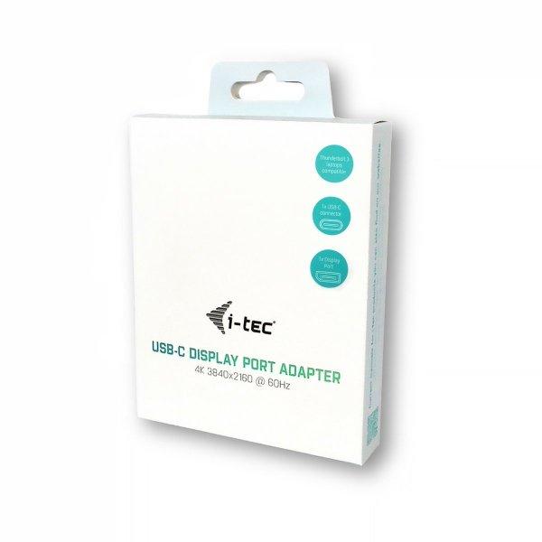 i-tec adapter USB-C do Display Port, 1x Display Port 4K Ultra HD, kompatybilny z Thunderbolt 3