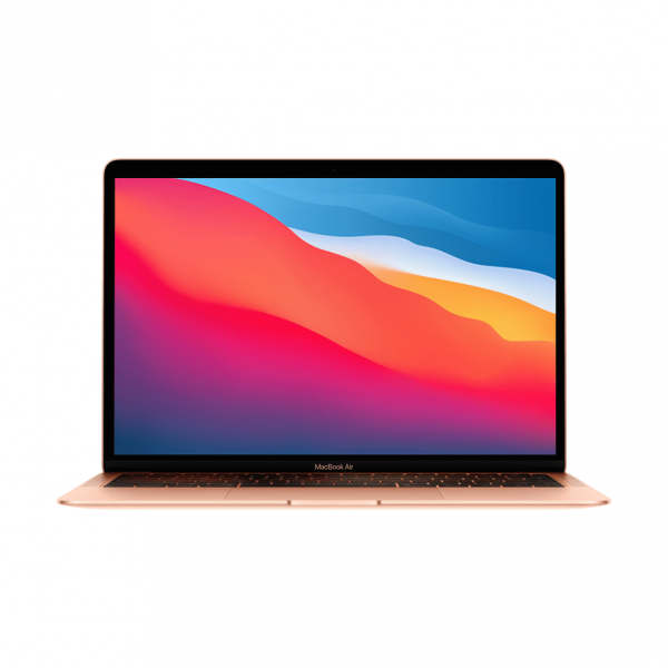 MacBook Air z Procesorem Apple M1 - 8-core CPU + 7-core GPU /  16GB RAM / 256GB SSD / 2 x Thunderbolt / Gold