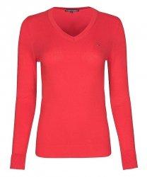 Tommy Hilfiger sweter damski czerwony
