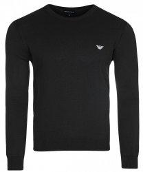 Emporio Armani sweter męski gładki czarny