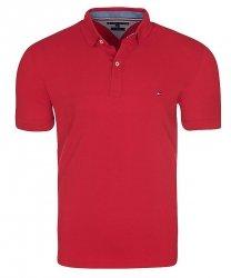Tommy Hilfiger koszulka polo polówka męska Slim Fit czerwona
