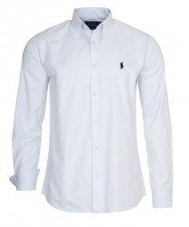 Ralph Lauren koszula męska gładka slim fit biała