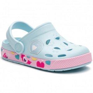 Buty Coqui Froggy sandały klapki dziecięce błękitne
